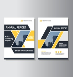 Yellow geometric annual report Leaflet brochure vector image