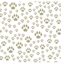 animal footprints include seamless pattern mammals vector image