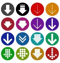 Arrow sign icon set- vector image