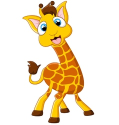Cartoon giraffe posing vector image vector image