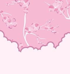 cut flow pink vector image vector image