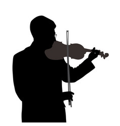 male violinist vector image