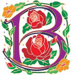 rosette letter B vector image