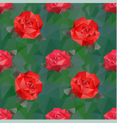 seamless background with geometric flower vector image