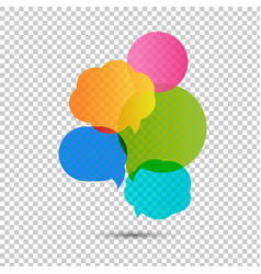 speech bubble isolated vector image vector image
