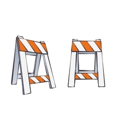 Cartoon Road Barriers vector image