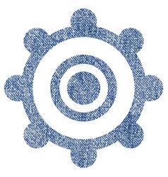Cog wheel fabric textured icon vector