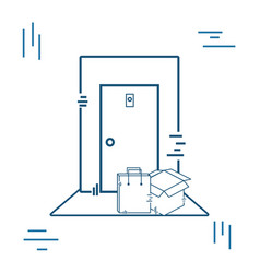 Delivery of orders at the door of your house vector