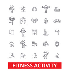 fitness exercise gym keep fit yoga vector image vector image