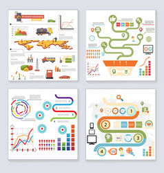 infographics elements symbols and icons retro vector image