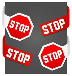 left and right side signs - stop vector image vector image
