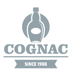 luxury cognac logo simple gray style vector image