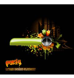 urban party design vector image vector image