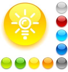 Bulb button vector image vector image