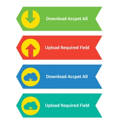 Download upload and cloud download upload buttons vector image vector image