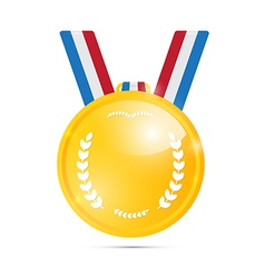 Gold Medal Award Isolated on White Background vector image