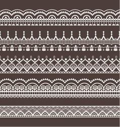 Lace ornaments borders vector image vector image