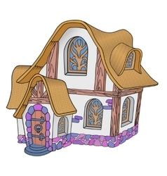 Little fairytale house vector image