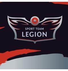 logo template sport team Wings of a bird vector image vector image