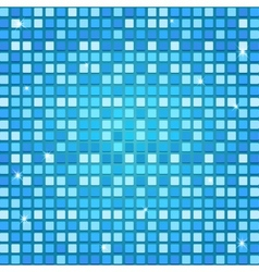 Mosaic background in blue tones vector image vector image