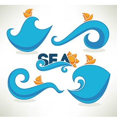 sea time vector image vector image