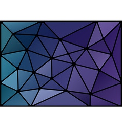 triagles blue black vector image vector image