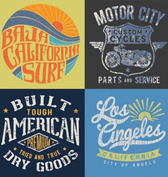 Vintage T-shirt Graphic Set 2 vector image