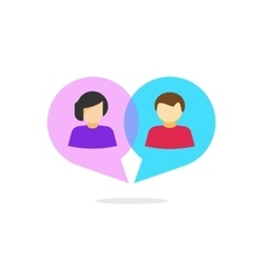 Woman man relationship concept chatting vector image