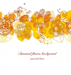 autumn flowers background vector image vector image