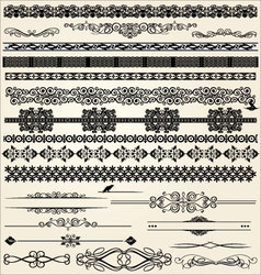 Calligraphic and decor design elements vector image