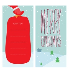 Christmas greeting with Santa Claus vector image vector image