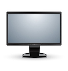 Computer monitor display isolated vector