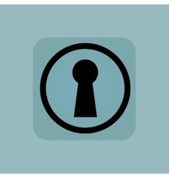 Pale blue keyhole sign vector image vector image