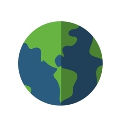 planet world sphere circle icon graphic vector image vector image