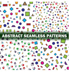 set of four abstract seamless pattern simple vector image vector image