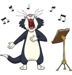 singing cat vector image