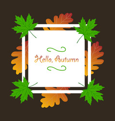 Autumn season banner greeting card with vector