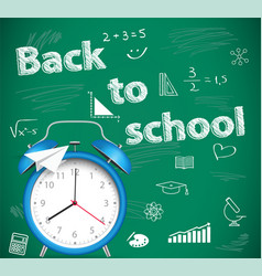 back to school green school background vector image