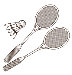 badminton logo sport hobbies outdoor recreation vector image