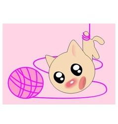 ball kitten vector image