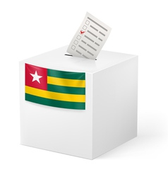 Ballot box with voting paper Togo vector