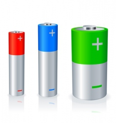 batteries vector image
