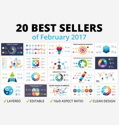 best circle infographics set business vector image