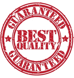 Best quality guaranteed grunge stamp vector