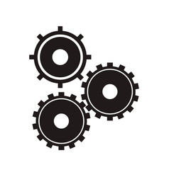 black gear wheel work vector image