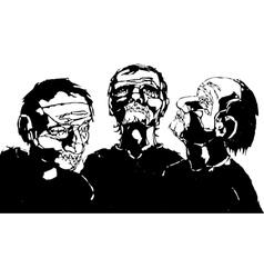 Blind Men vector