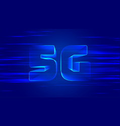 Blue 5g fifth generation technology background vector
