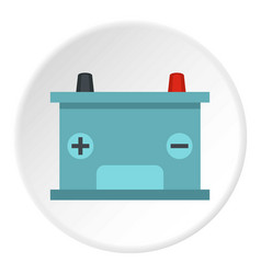Blue battery car icon circle vector