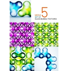 Bubble glass textures design collection vector