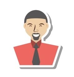 Businessman avatar elegant islated icon vector